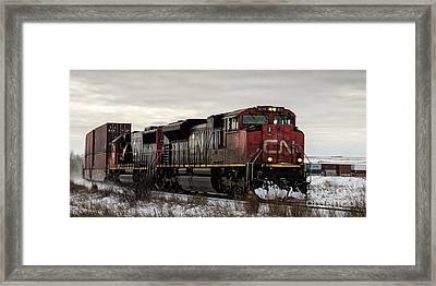Northbound Double Stack Framed Print