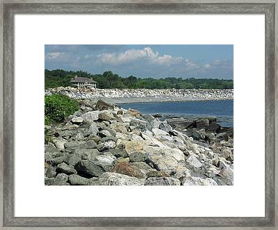 Northeast Us, Atlantic Coast, Rye Nh Framed Print