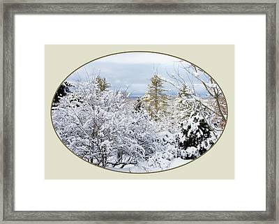 northeast USA photography button Framed Print by Lise Winne
