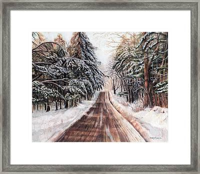 Northeast Winter Framed Print by Shana Rowe Jackson