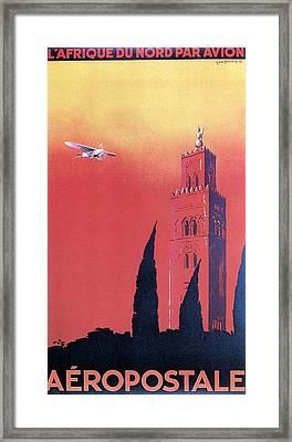 Northern Africa - Landscape Illustration - Vintage Travel Poster Framed Print