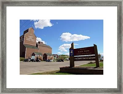 Northern Alberta Railways Park Framed Print by Robert Braley