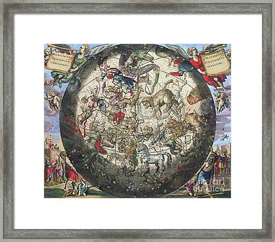 Northern Boreal Hemisphere Framed Print by Andreas Cellarius