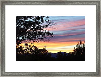 Northern Ca June Sunset  Framed Print by Angie Anliker