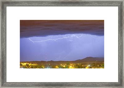 Northern Colorado Rocky Mountain Front Range Lightning Storm  Framed Print by James BO  Insogna