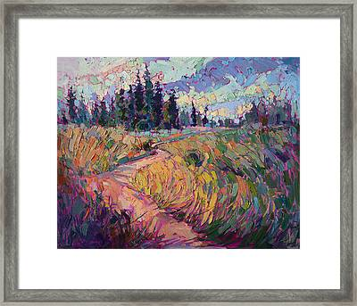Northern Firs Framed Print