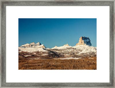 Northern Glacier Mountains Framed Print by Todd Klassy