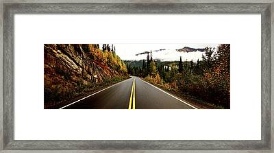 Northern Highway Yukon Framed Print by Mark Duffy