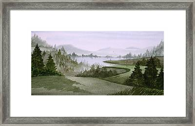 Northern Lake Golf Framed Print by Sean Seal