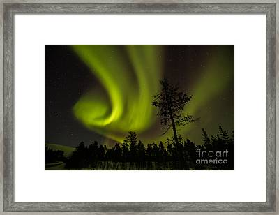 Northern Light In Finland Framed Print