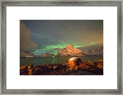 Spectacular Night In Lofoten 3 Framed Print