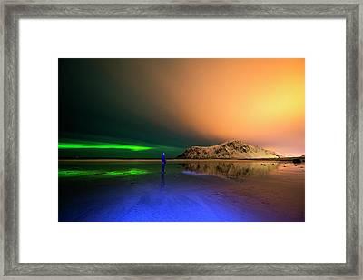 Northern Light In Lofoten, Nordland 4 Framed Print