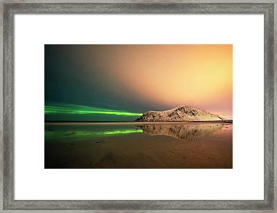 Northern Light In Lofoten Nordland 5 Framed Print