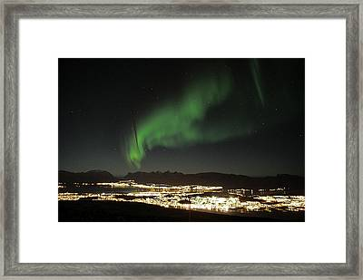 Northern Light In Troms, North Of Norway Framed Print by Tamara Sushko