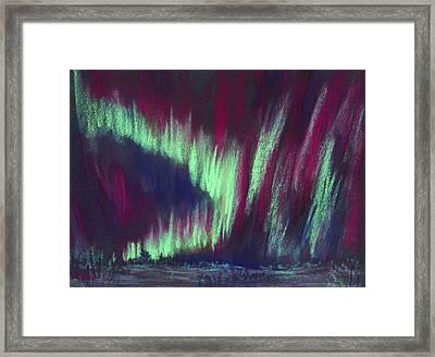 Northern Lights Framed Print by Anastasiya Malakhova