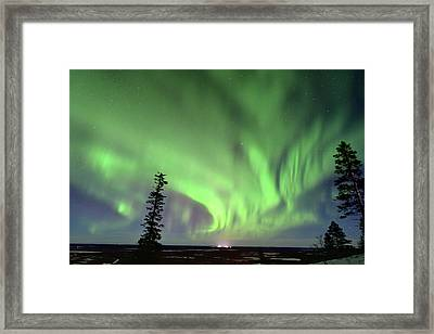 Northern Lights Framed Print by Edwin Verin