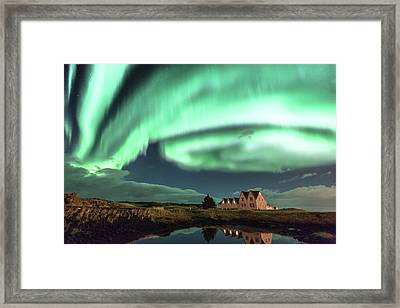 Framed Print featuring the photograph Northern Lights by Frodi Brinks