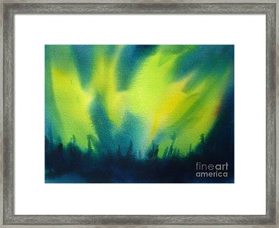 Northern Lights I Framed Print by Kathy Braud