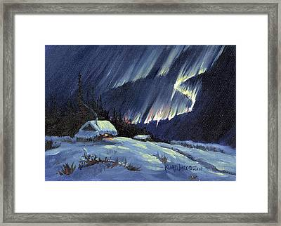 Northern Lights Framed Print by Kurt Jacobson