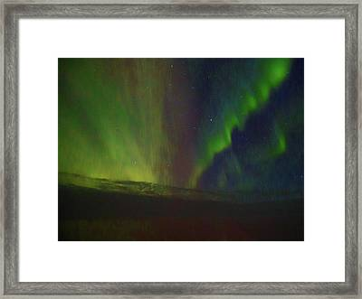 Northern Lights Or Auora Borealis Framed Print