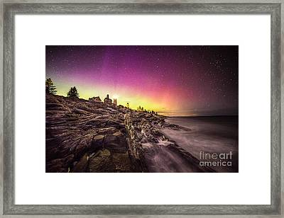 Northern Lights Over Pemaquid Point Framed Print by Benjamin Williamson