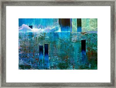 Northern Lights Rising Framed Print