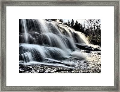 Northern Michigan Up Waterfalls Bond Falls Framed Print