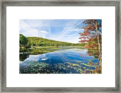 Northern New Jersey Lake Framed Print by Ryan Kelly
