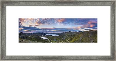 Northern Norway Panorama North Cape Framed Print by Sandra Rugina