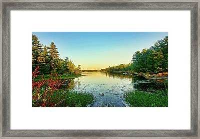 Northern Ontario Lake Framed Print