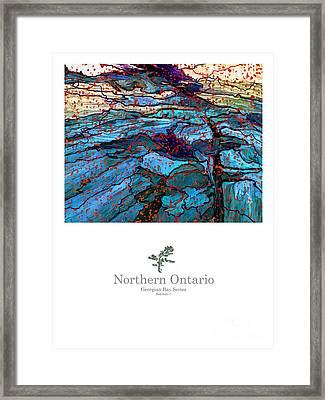 Northern Ontario Poster Series Framed Print by Bob Salo