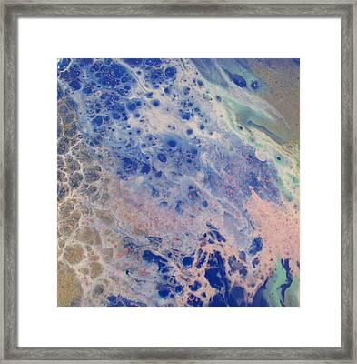 Northern Sea Foam Framed Print