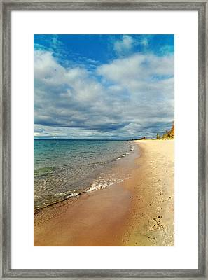 Northern Shore Framed Print by Michelle Calkins