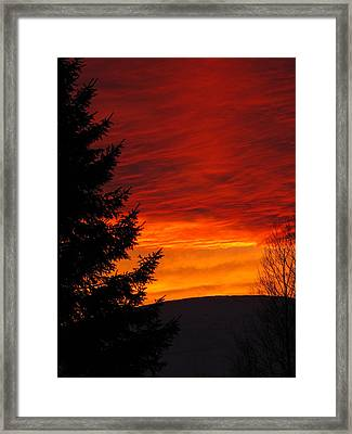 Northern Sunset 2 Framed Print