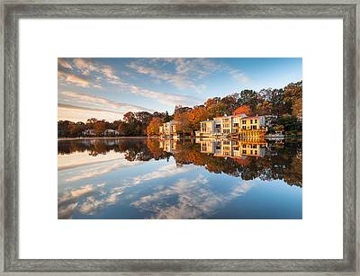 Northern Virginia Lakefront Townhomes Framed Print