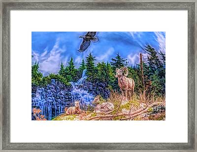 Framed Print featuring the digital art Northern Wilderness by Ray Shiu