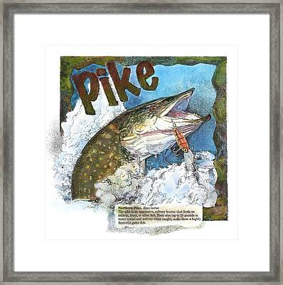 Framed Print featuring the painting Northerrn Pike by John Dyess