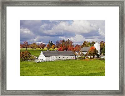 Northfield Farm In Autumn Framed Print