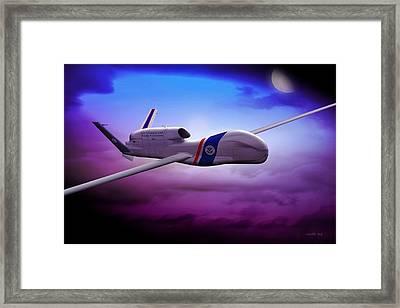 Northrop Grumman Rq4 Drone 2 Framed Print