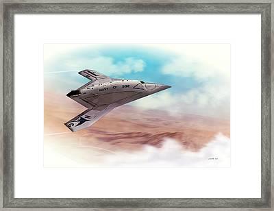 Northrop Grumman X47b Drone Framed Print by John Wills