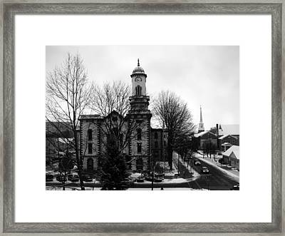 Northumberland County Courthouse Sunbury Pennsylvania  Framed Print