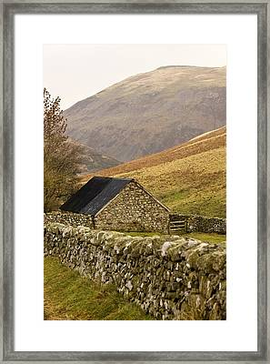 Northumberland, England Stone House Framed Print by John Short