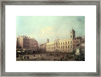 Northumberland House Framed Print by Canaletto