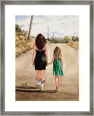 Northwest Oklahoma Sisters Framed Print by Sam Sidders
