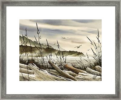 Northwest Shore Framed Print by James Williamson