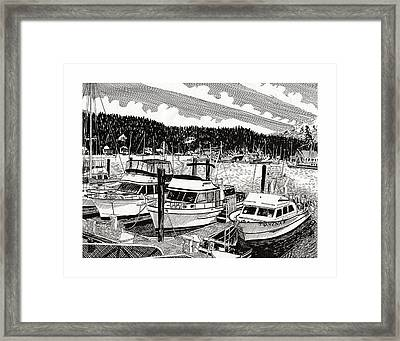 Northwest Yachting Gig Harbor Framed Print