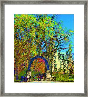 Northwestern Arch  Framed Print