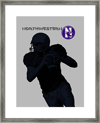 Northwestern Football Framed Print