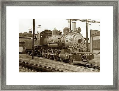 Northwestern Pacific Locomotive 4-6-0 No. 112 In The Tiburon Yard Framed Print