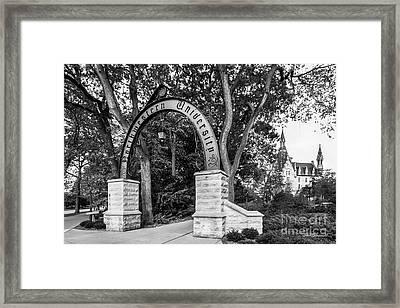 Northwestern University The Arch Framed Print
